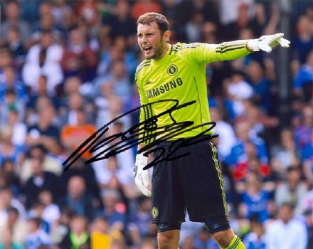 Ross Turnbull, Chelsea, signed 10x8 inch photo.
